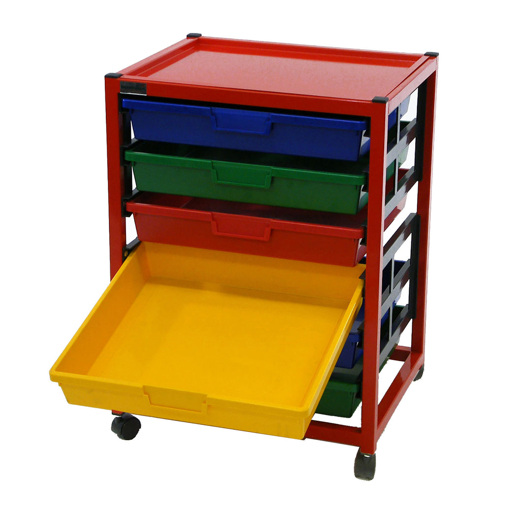 Single Column 6 Level A4 Classroom Trolley