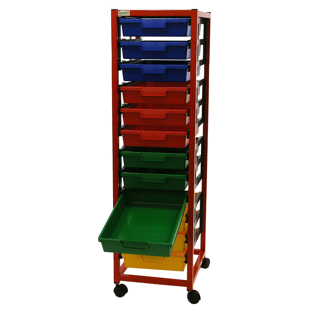 Single Column 12 Level A3 Classroom Trolley