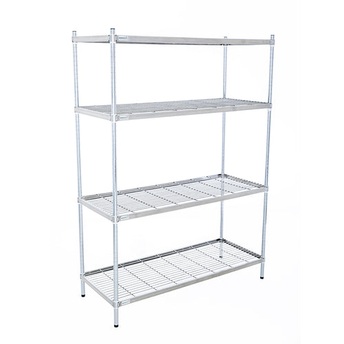 Zinc Wire 4 Tier Shelving Unit (1800mm High)
