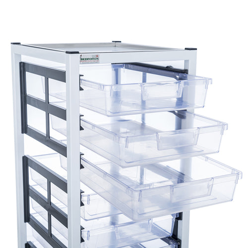 Single Column 6 Level A4 Medical Trolley