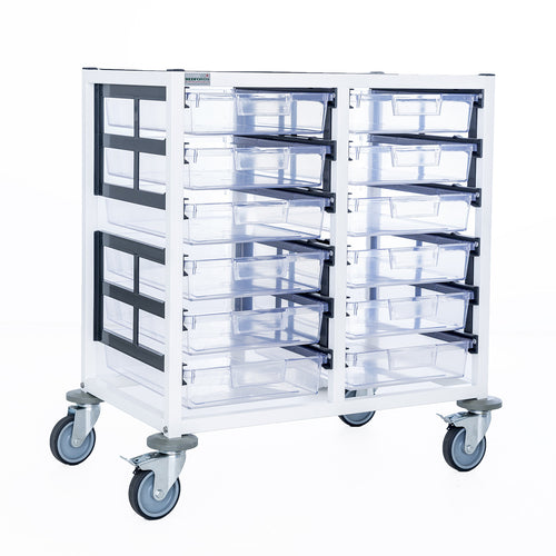 Double Column 6 Level A3 Medical Trolley