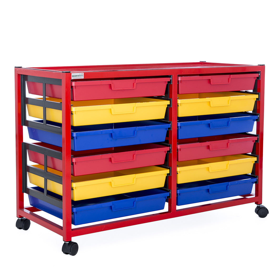Double Column 6 Level A3 Classroom Trolley