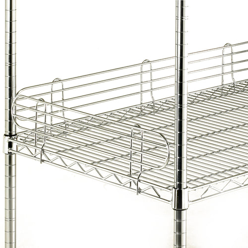 Chrome Wire Shelf Edges
