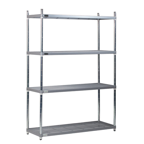 Nylon 4 Tier Wire Shelving Unit (1700mm High)
