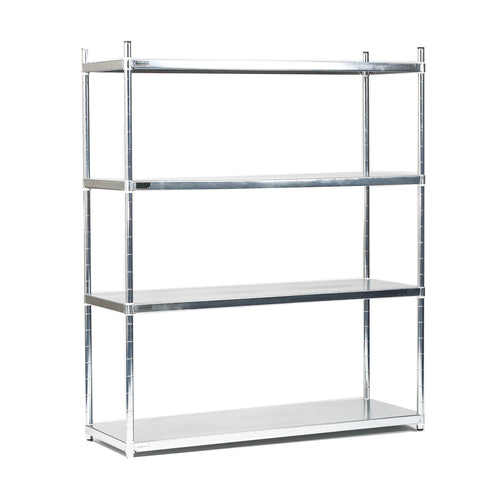 Zinc 4 Tier Solid Shelving Unit