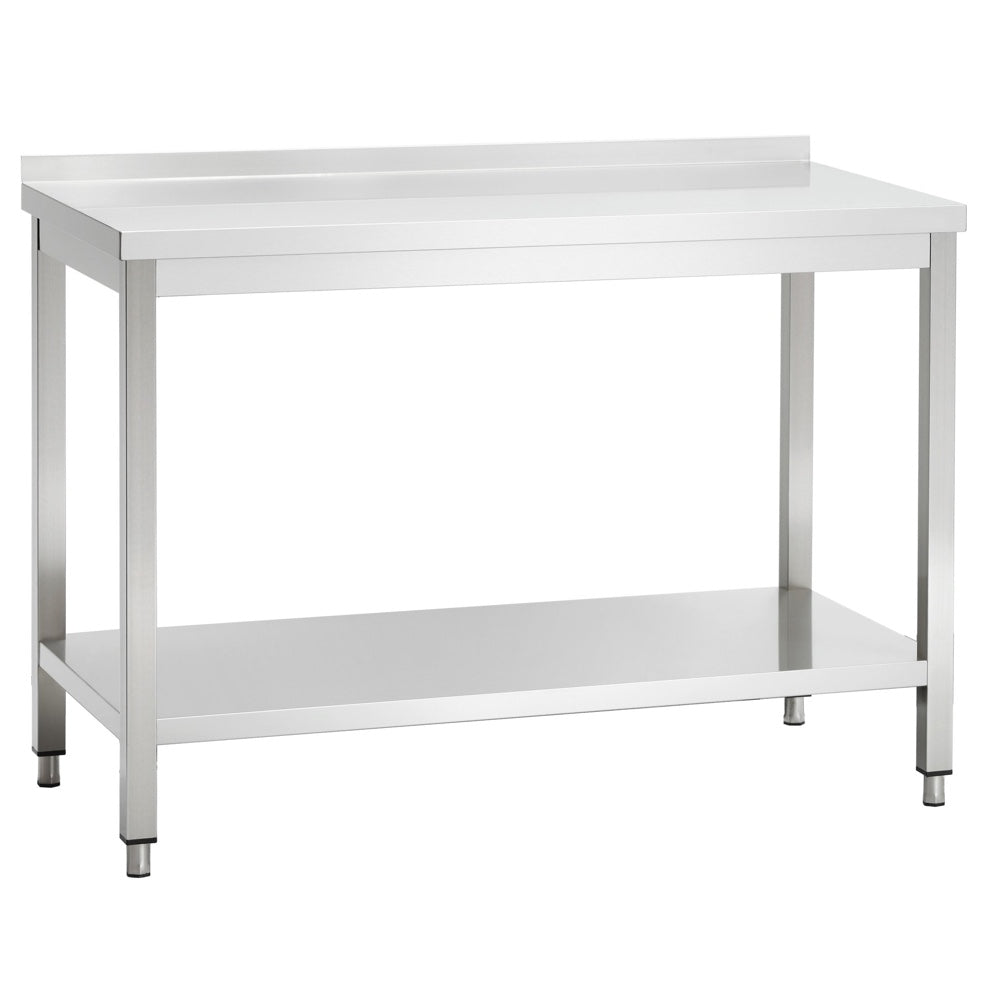 Banquet Kitchen Table: Stainless Steel Catering / Kitchen Table With Upstand And