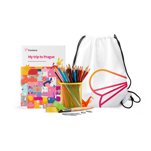 Add-on: Prague Activity Book + Art & Play Accessories + Backpack