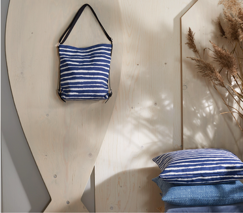 Water Stripe Bag and Cushion at INSIDE Hong Kong