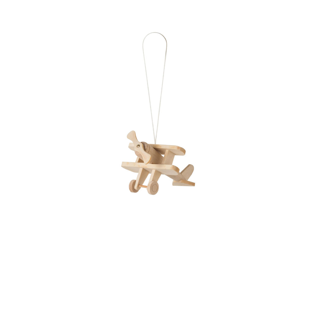 Aeroplane Hanging Decoration Natural