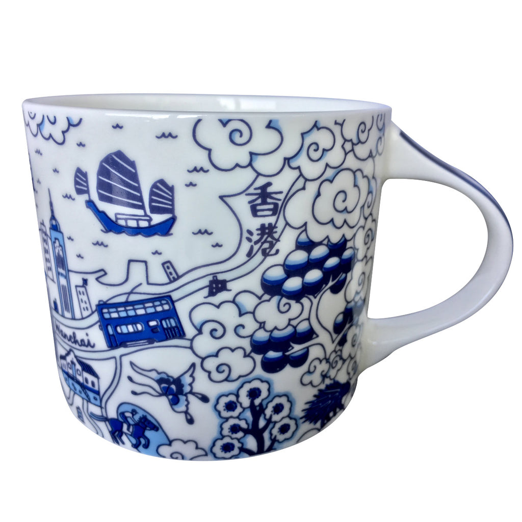 Faux Willow Series HK Mug Blue - Faux, INSIDE Hong Kong