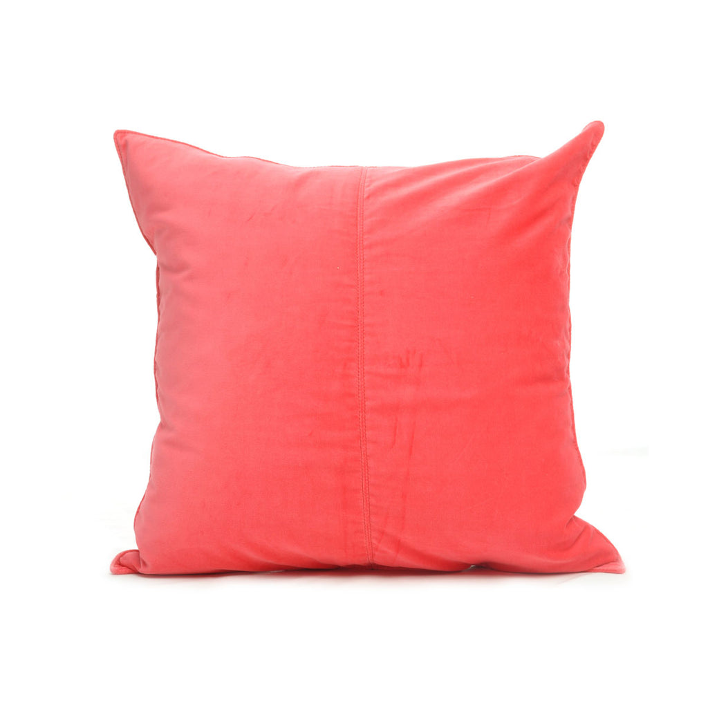 Velvet Base Cushion Coral