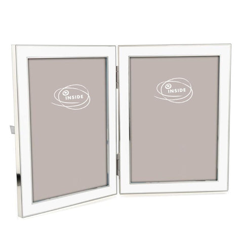 Enamel White Frame Double