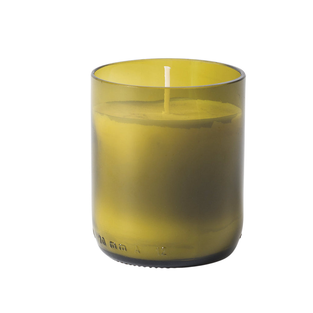 Natura Glass Candle w Soy Wax Green