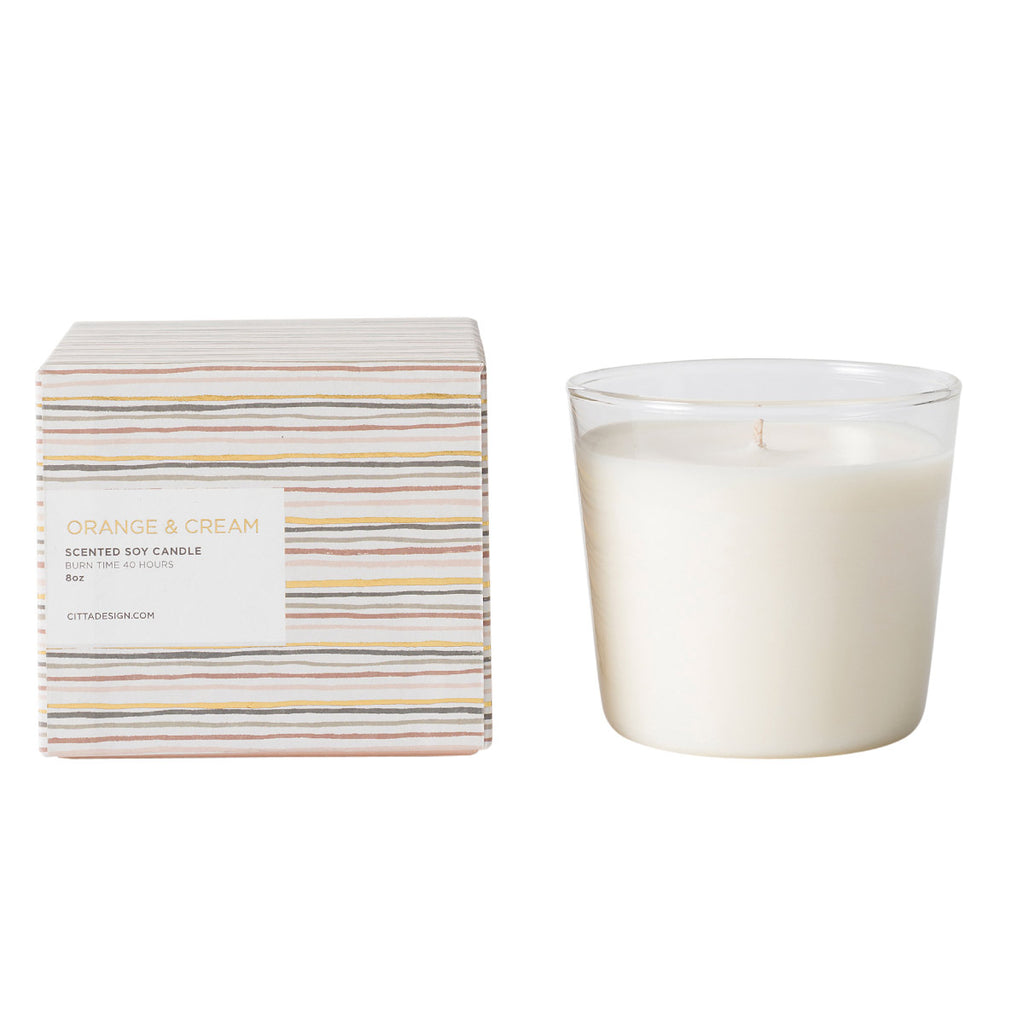 Orange & Cream Scented Soy Candle