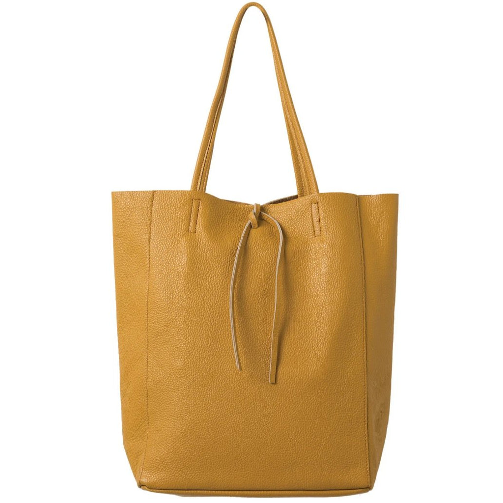 Florence Leather Tote  Bag Mustard - Citta Design, INSIDE Hong Kong
