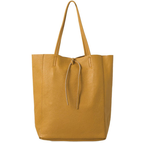 Florence Leather Tote Mustard