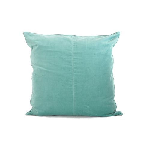 Velvet Base Cushion Aqua