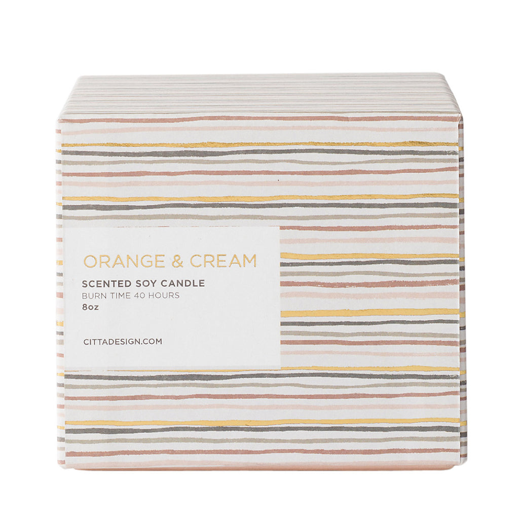 Orange & Cream Scented Soy Candle - Citta Design, INSIDE Hong Kong