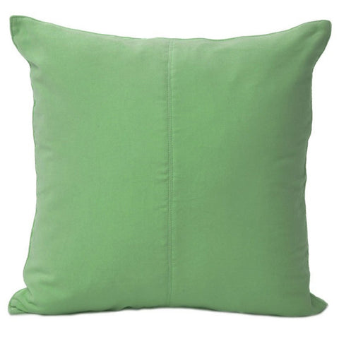 Velvet Base Cushion Lime Green