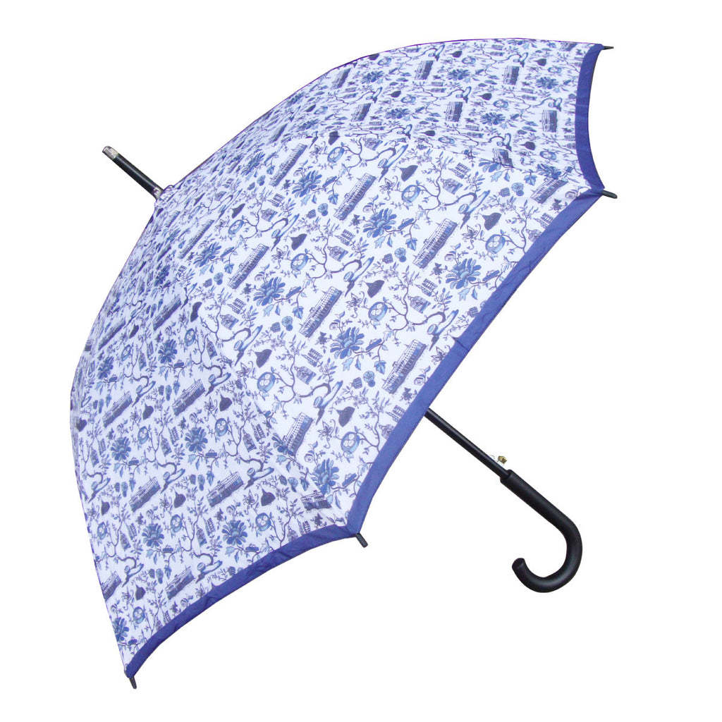 Hong Kong Toile Series Umbrella Blue