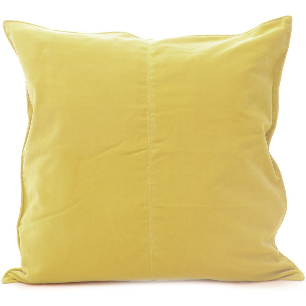 Velvet Base Cushion Lemon