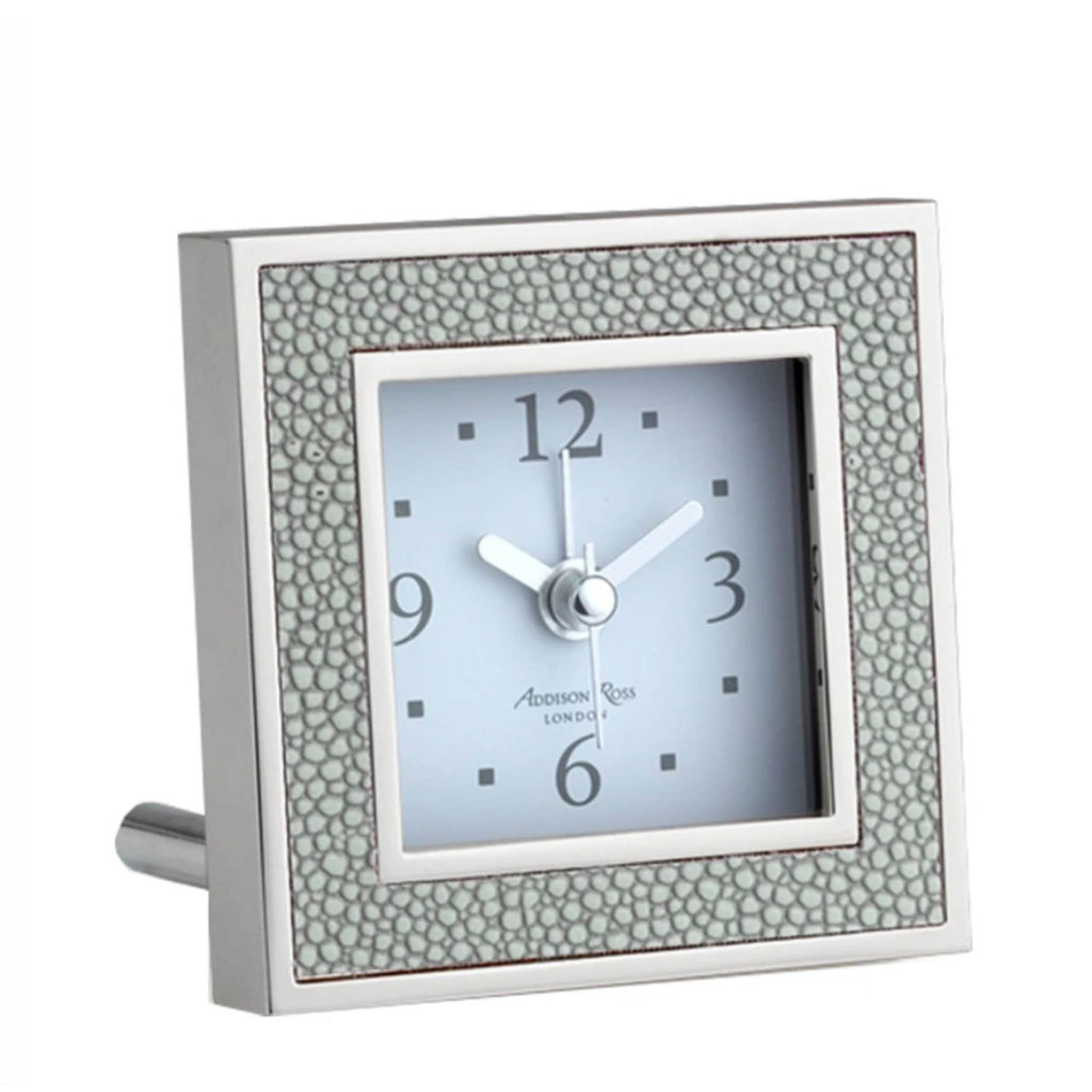 Addison Ross Shagreen Grey alarm clock - Addison Ross, INSIDE Hong Kong
