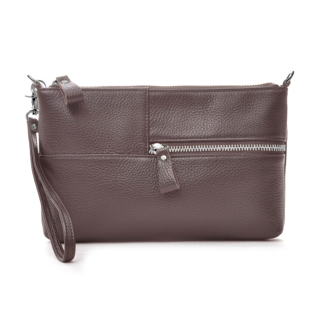 Ceannis Envelope Bag Grained Leather Brown - NEW!