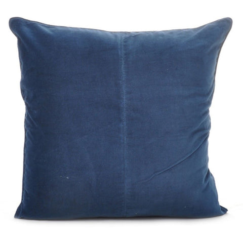 Velvet Base Cushion Navy Blue