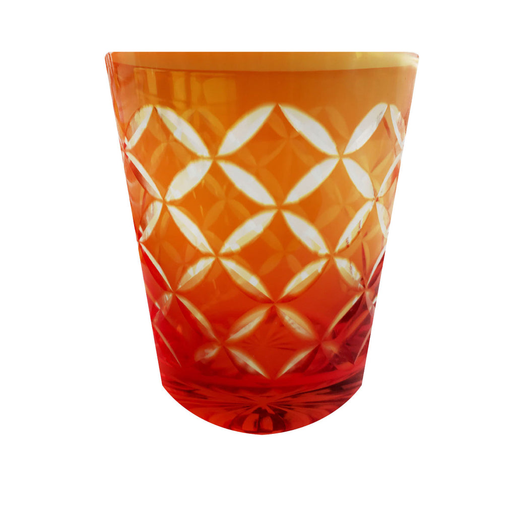 Glassware Orange Set of 4