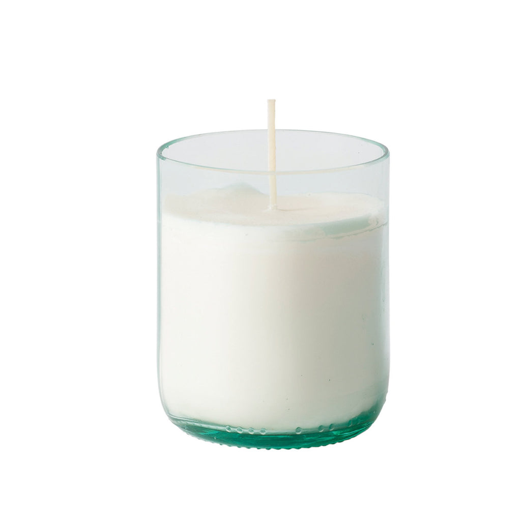 Natura Glass Candle with Soy Wax Clear