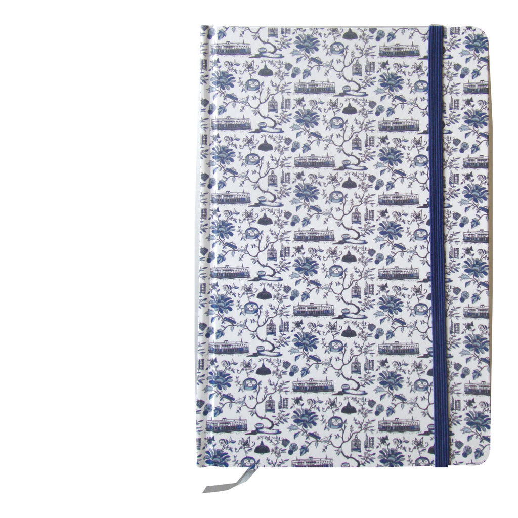 Faux Hong Kong Toile Series Notebook Blue