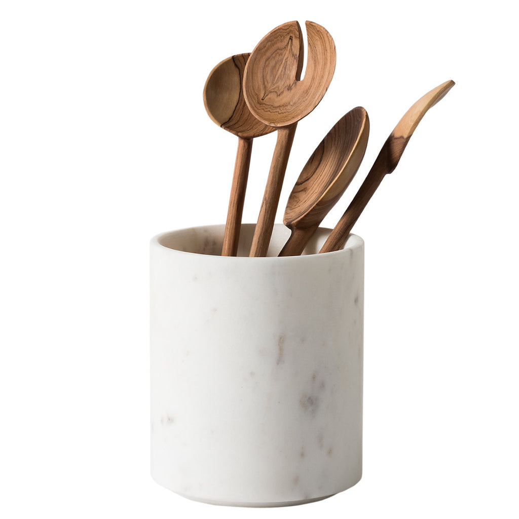 Ora Marble Utensil Holder  White - Citta Design, INSIDE Hong Kong