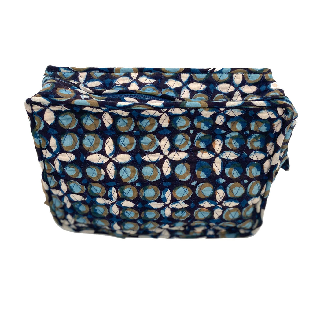 Sponge Toilet Bag Cotton Geometric