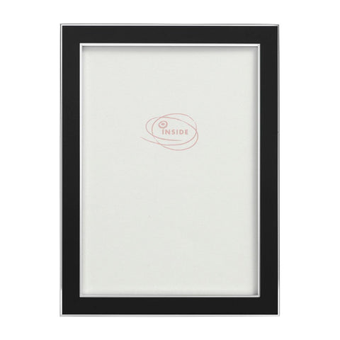 Enamel Photo Frame in Black