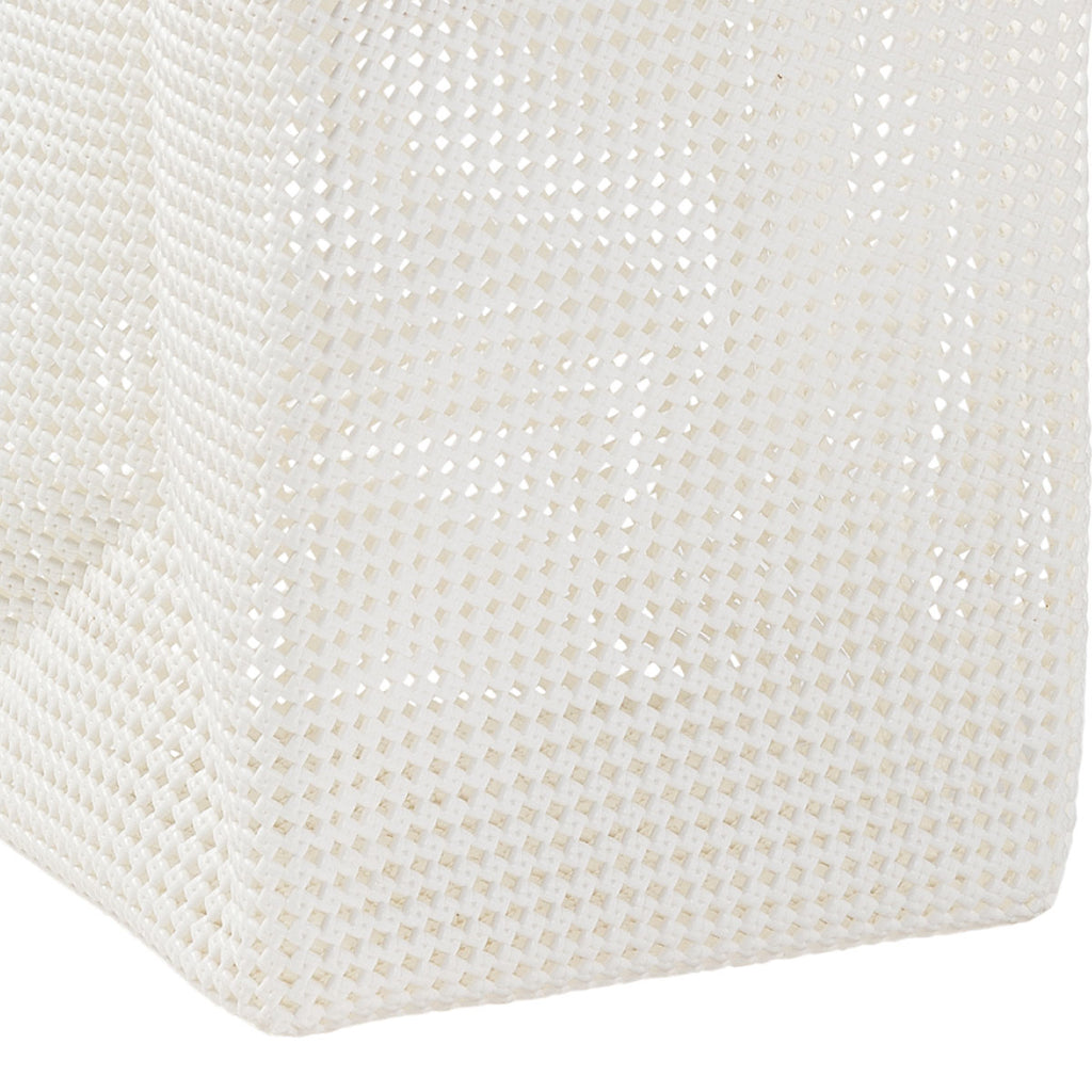 Plastic Weave Laundry Basket White