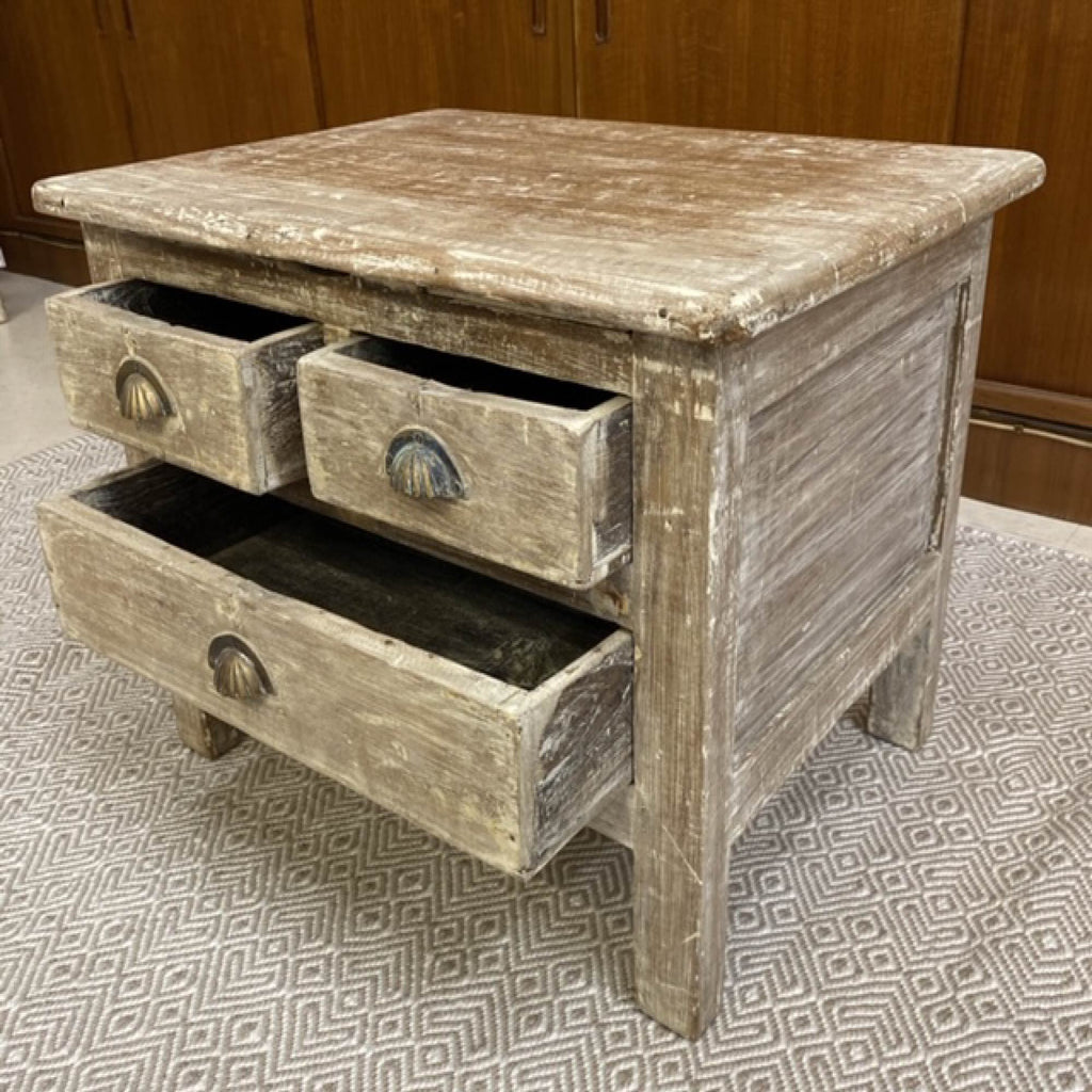 Side Table in White Wash