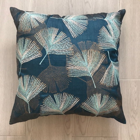 Cushion Embroidered Leaf