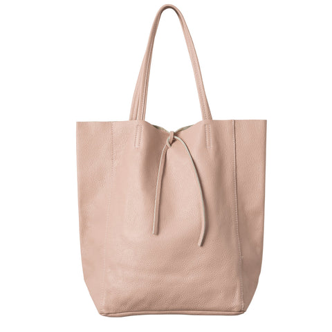 Florence Leather Tote Rose