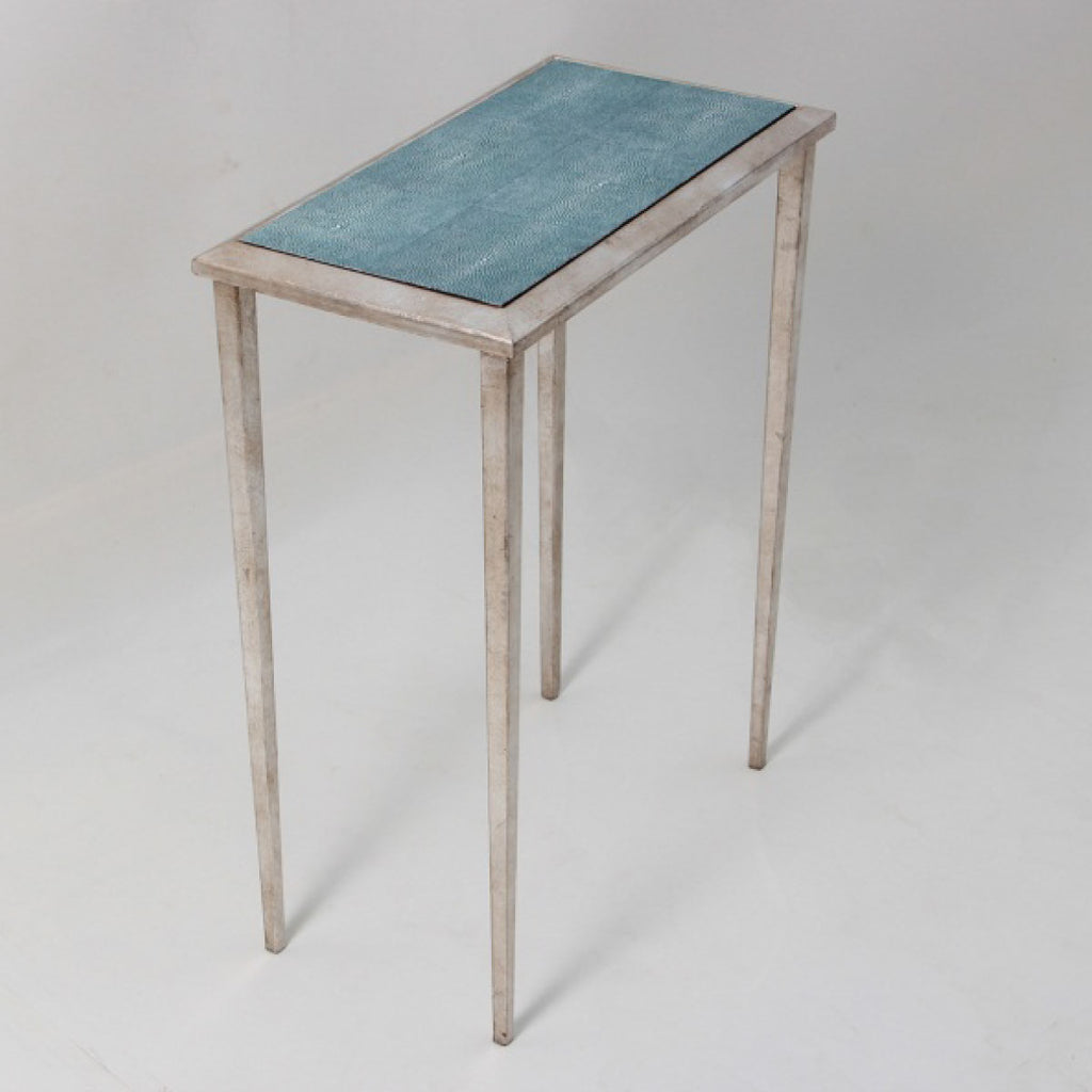 Faux Shagreen Lamp Table in Turquoise - INSIDE, INSIDE Hong Kong