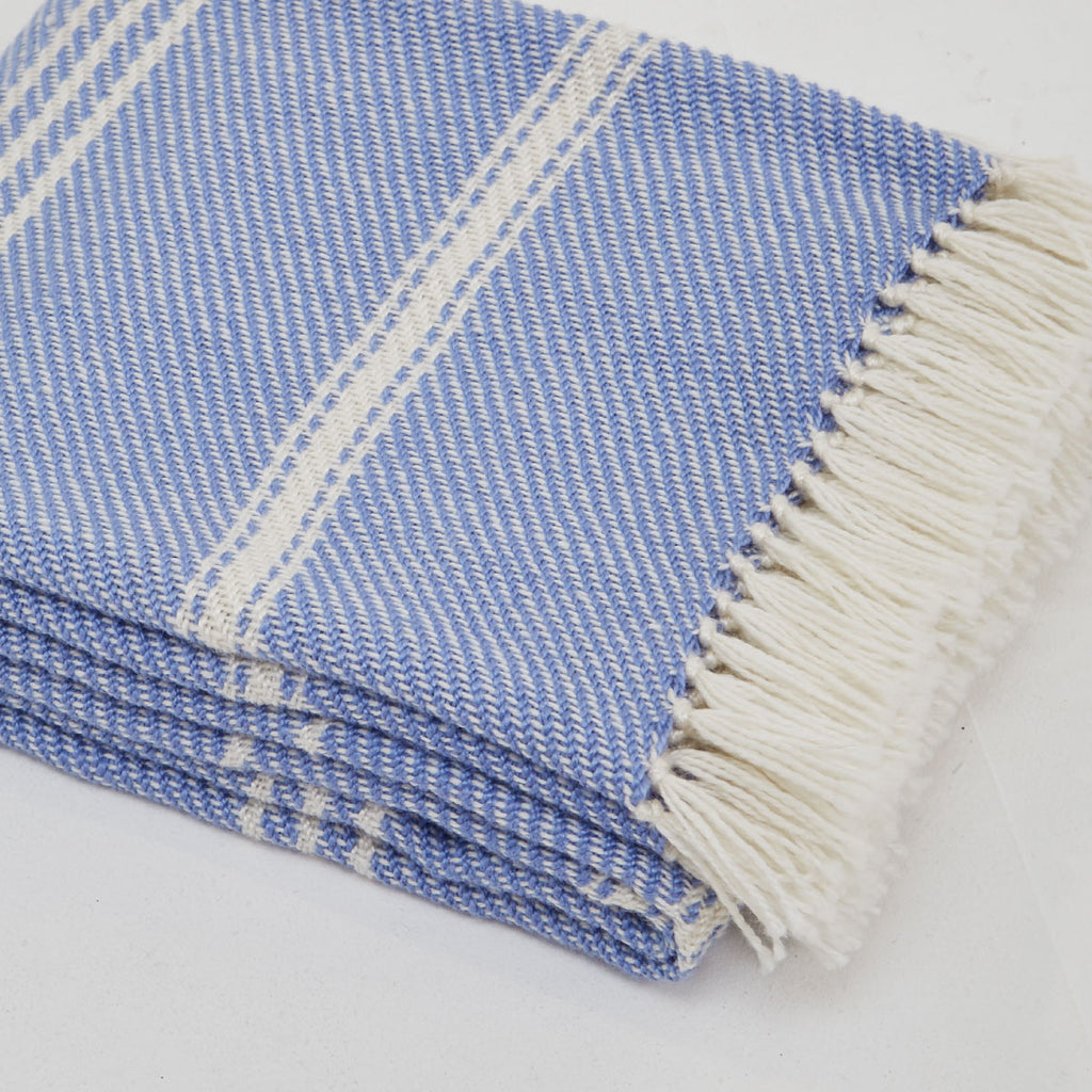 Weaver Green Oxford Striped Blanket Cobalt
