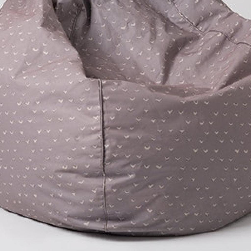 Lela Print Bean Bag with Piping