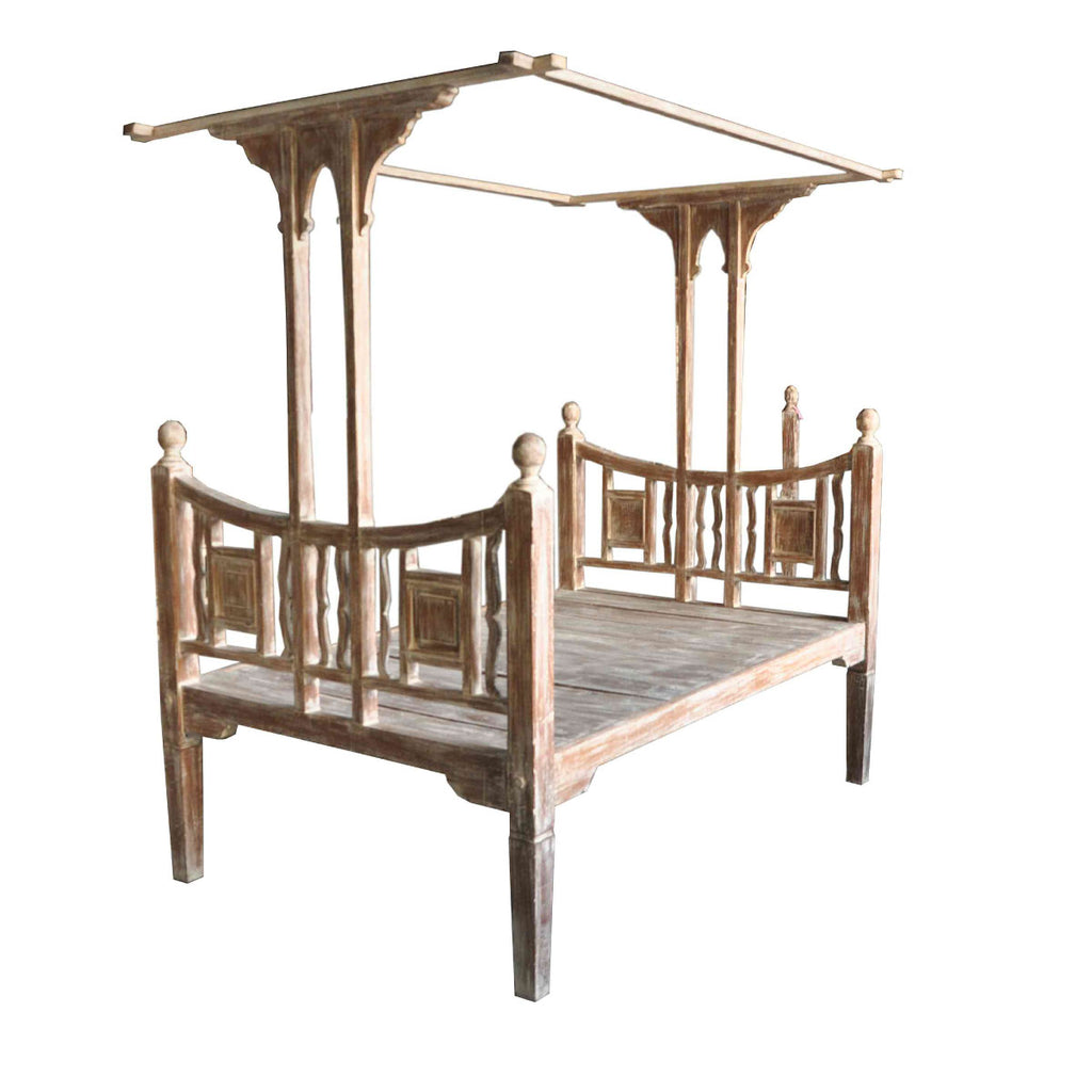 Canopy Teak Wood White Wash