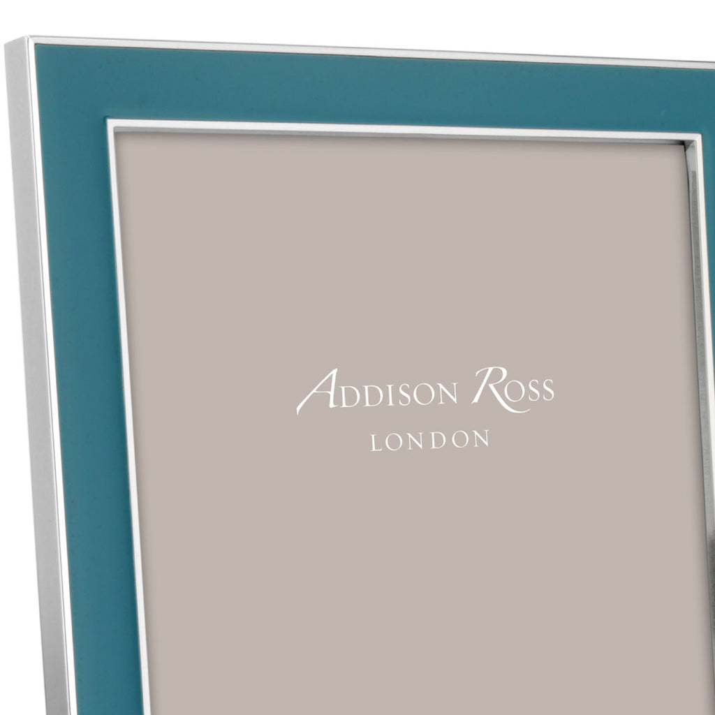 Addison Ross Enamel Teal & Silver