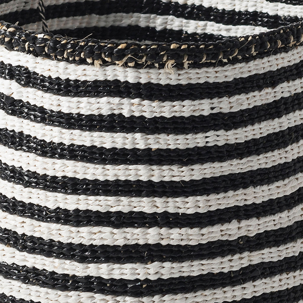 Kiondo Thin Stripe Basket White/Black - Citta Design, INSIDE Hong Kong