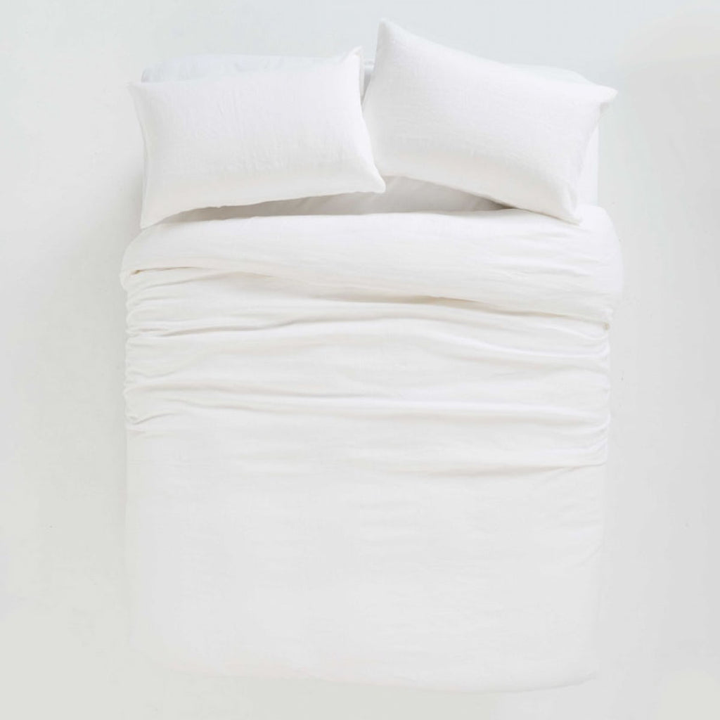 Sove Linen Duvet cover Ecru Double - Citta Design, INSIDE Hong Kong