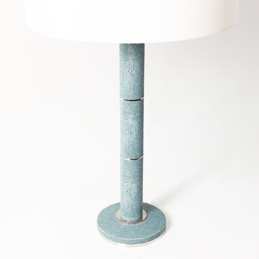 Diss Column Table Lamp Shagreen Teal