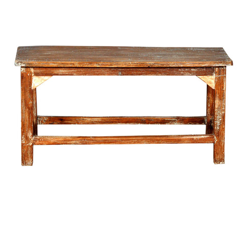 Bench Teak Wood White Wash 90x92x46(h)cm