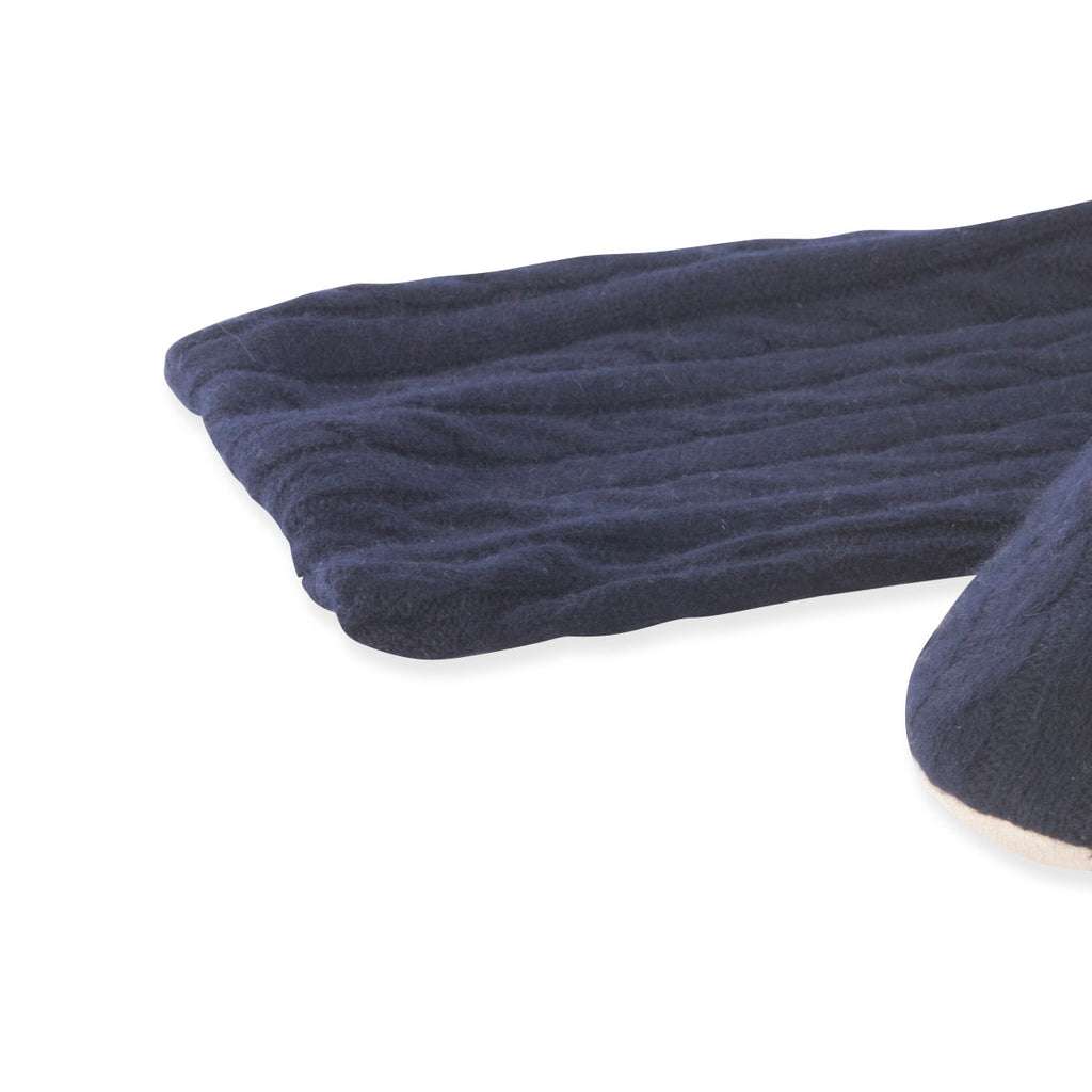 Cashmere knit slippers Navy