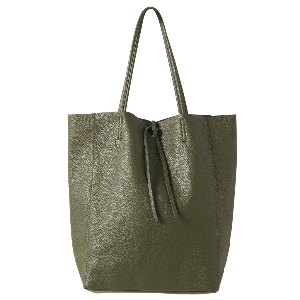 Florence Leather Tote Olive