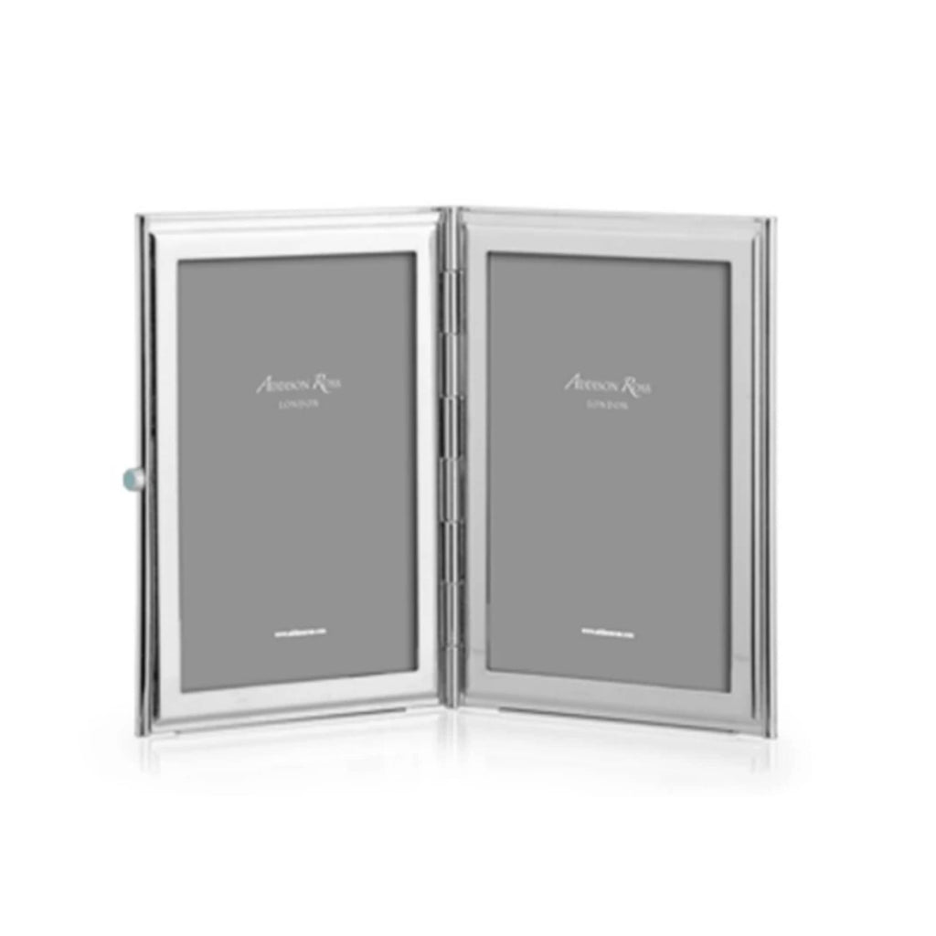 Addison Ross Travel Double Frame Silver plated - White - Addison Ross, INSIDE Hong Kong